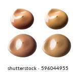 smear cream isolated on white...   Shutterstock . vector #596044955