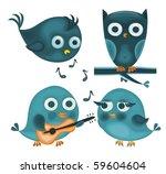 Cartoon Birds In Vector