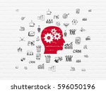 finance concept  painted red... | Shutterstock . vector #596050196