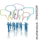 a group of communication... | Shutterstock .eps vector #59605039