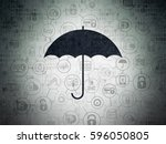 protection concept  painted... | Shutterstock . vector #596050805