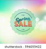 abstract colorful spring green... | Shutterstock . vector #596055422