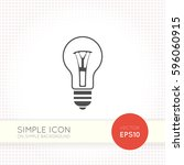 lamp flat icon isolated on... | Shutterstock .eps vector #596060915