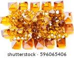 scattered yellow monocrystal... | Shutterstock . vector #596065406