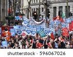 london  uk   march 4  2017 ... | Shutterstock . vector #596067026