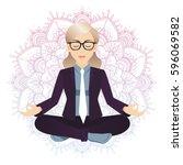 vector illustration of business ... | Shutterstock .eps vector #596069582