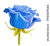 vintage garden spring blue... | Shutterstock .eps vector #596069666