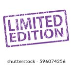 limited edition vector stamp... | Shutterstock .eps vector #596074256