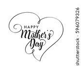 happy mother's day greeting... | Shutterstock .eps vector #596079326