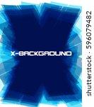 abstract dark blue x background ...   Shutterstock .eps vector #596079482