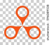 map markers icon. vector... | Shutterstock .eps vector #596089538