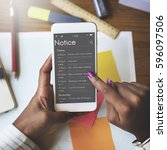 personal organizer schedule... | Shutterstock . vector #596097506