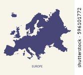 europe map | Shutterstock .eps vector #596101772