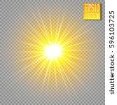 glowing lights effects... | Shutterstock .eps vector #596103725