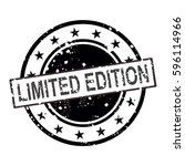 limited edition vector stamp... | Shutterstock .eps vector #596114966