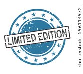 limited edition vector stamp... | Shutterstock .eps vector #596114972