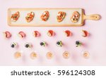 catering  banquet food concept. ...   Shutterstock . vector #596124308
