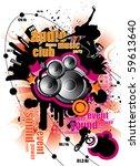 urban music background | Shutterstock .eps vector #59613640