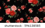 seamless floral pattern in... | Shutterstock .eps vector #596138585