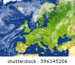 europe. 3d illustration with... | Shutterstock . vector #596145206