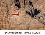 helicopter flying over grand... | Shutterstock . vector #596146226