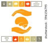 hands holding brain  ...   Shutterstock .eps vector #596156795