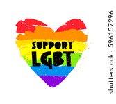 support lgbt. lettering. big... | Shutterstock .eps vector #596157296