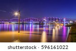 The Big Four Bridge, built in 1895, was a railroad bridge spanning the Ohio River connecting Louisville KY and Jeffersonville IN. The bridge was converted into a pedestrian bridge in 2013.