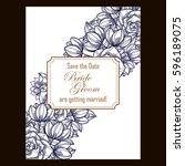 vintage delicate invitation... | Shutterstock .eps vector #596189075