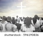 blurred christian | Shutterstock . vector #596190836