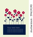 vector background with flowers. | Shutterstock .eps vector #59619190