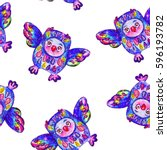 bright seamless pattern with... | Shutterstock . vector #596193782