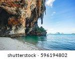 railay beach  krabi | Shutterstock . vector #596194802