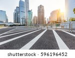 urban traffic with cityscape in ... | Shutterstock . vector #596196452