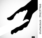 black color big hand and white... | Shutterstock .eps vector #596197466