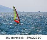windsurfer shot against the... | Shutterstock . vector #59622310