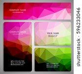 set of multicolored polygon...   Shutterstock .eps vector #596233046
