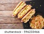 Hot Dog With Sauerkraut And...