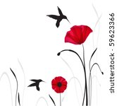 Hummingbirds And Poppies...