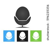 director chair icon | Shutterstock .eps vector #596235356