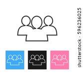 vector social network button.... | Shutterstock .eps vector #596236025