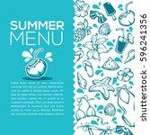 summer menu  vector design... | Shutterstock .eps vector #596241356