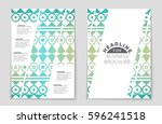 abstract vector layout... | Shutterstock .eps vector #596241518