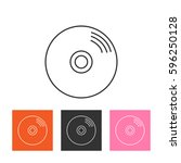 vector cd or dvd icon | Shutterstock .eps vector #596250128