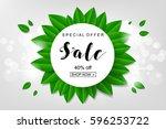 poster of spring sale | Shutterstock .eps vector #596253722