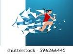 illustration of an athlete...   Shutterstock .eps vector #596266445