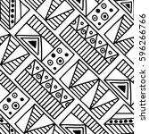 seamless vector pattern. black... | Shutterstock .eps vector #596266766