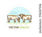 vector logo design template in... | Shutterstock .eps vector #596267246