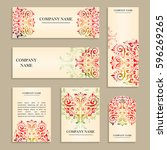 set of design templates for... | Shutterstock .eps vector #596269265