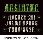 decorative serif font in... | Shutterstock .eps vector #596270702